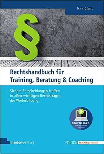 Rechtshandbuch Für Training Beratung Coaching Das Juristische