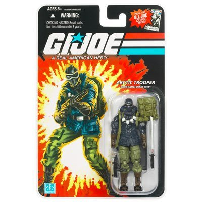 G.I. Joe 25th Anniversary Wave 8 - Arctic Trooper Snake Eyes Action Figure - Joe 25th Anniversary Wave