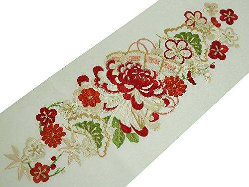 振袖用 シルエリー 刺繍入り 半衿 全6色 乱菊