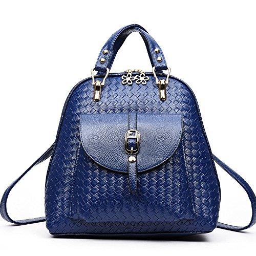 Alta capacidad de dama moda Mochila Ocio Tote hombro El azul