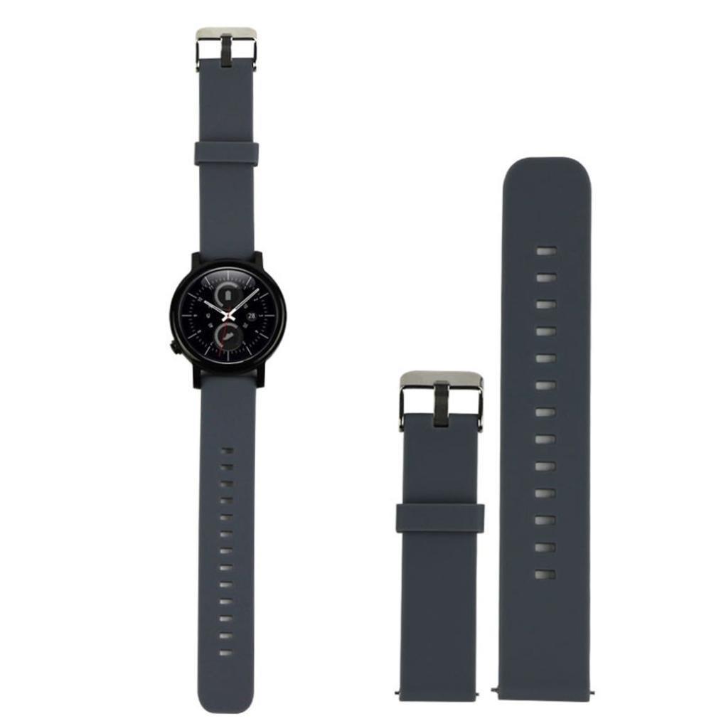 Pinhen 18mm 20mm 22mm Reemplazo liberación rápida Correa de Reloj Silicona Hebilla Pulsera para Huawei Gear S2 Moto 360 Pebble Time LG G Watch Smart ...