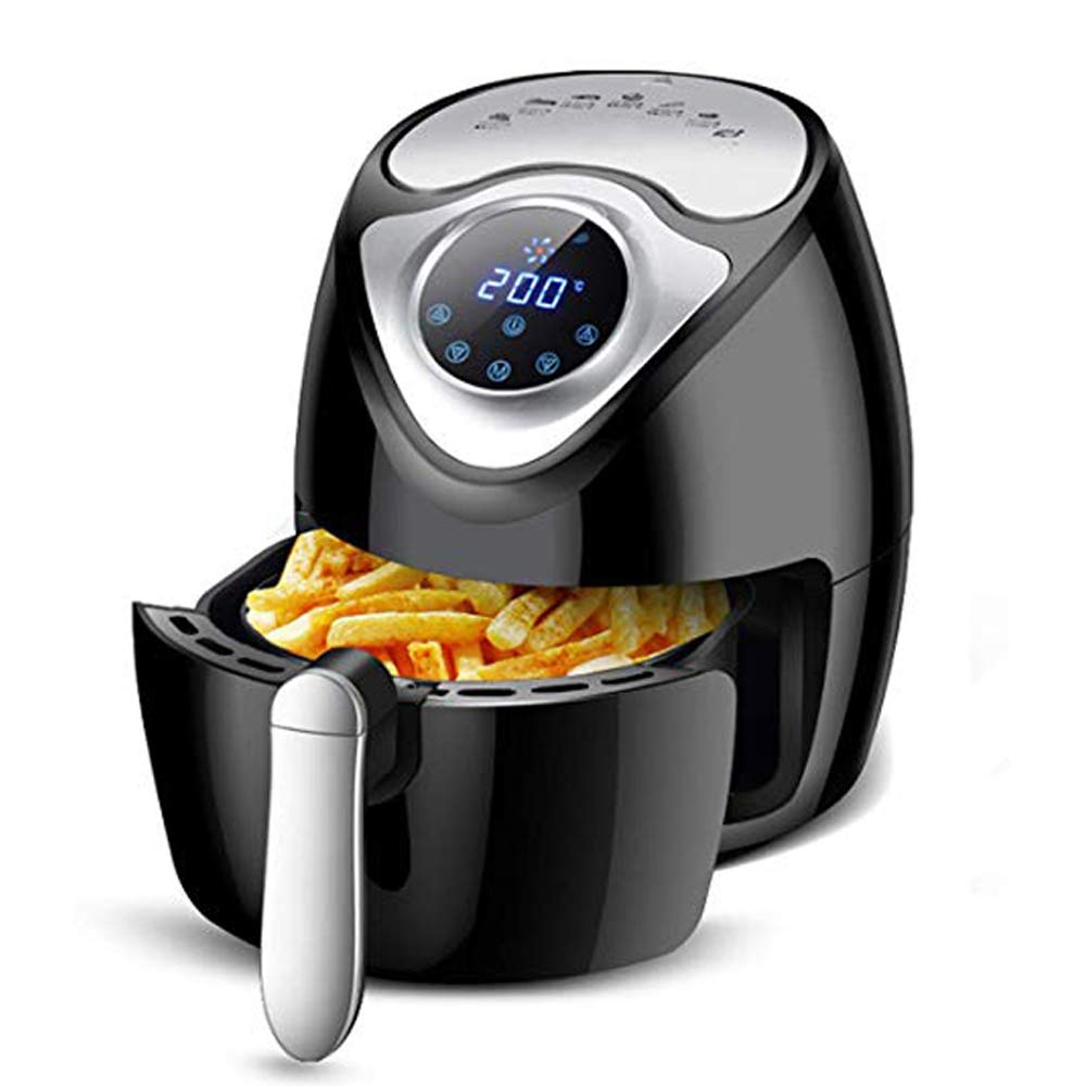ECO LLC 1300W Electric Air Fryer with 2.8QT Air Fryer Toaster Oven 7 Touch Presets Cooking for Home Kitchen Safe