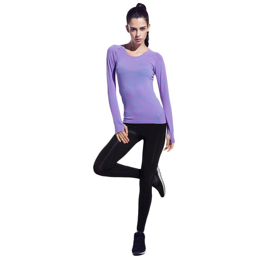 Thriving Prosperous Respirable Quick-Dry Yoga Mujer Camiseta con Manga Larga Cómodo Running Camisetas: Amazon.es: Deportes y aire libre
