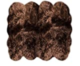 Lambzy Shapes Brown Eight Pelts Area Rug