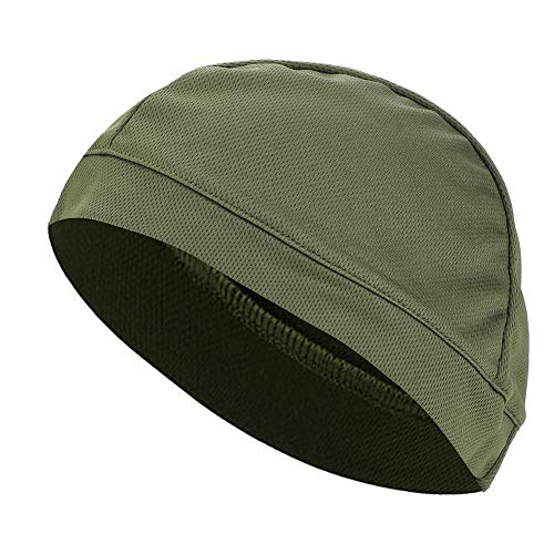 Running Thermal Cap - Helmet Liner Cap - Cooling Skull Caps Thermal Running Beanie Hat for Men & Women ,Outdoor Sport Cycling Bicycle, motorcycling, road racing or other outdoor activities ,6 Colors ( Color : Army Green )