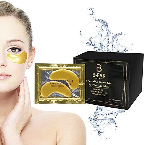 Anti Aging Eye Mask Gold Eye Mask Eye Pads Under Eye Wrinkle Reducer Crystal Collagen Gold Powder Eye Mask 24 karat gold eye treatment mask Eye Wrinkle Mask Eye Gel Best Eye Mask Eye patches 30 count