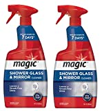Magic Shower Door Cleaner - 28 Ounce - Removes Soap Scum Mildew and Mold from Glass to Get a Crystal Streak-Less Shine