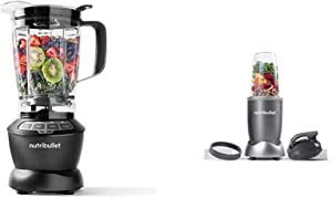 NutriBullet ZNBF30400Z Blender 1200 Watts, 1200W, Dark Gray & NBR-0601 Nutrient Extractor, 600W, Gray