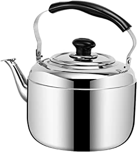 Stainless Steel Kettle/Kitchen Aid Teapot|tea Pots For Stove Top|tea Kettle|whistling Tea Kettle| 304 Stainless Steel |Large-capacity | Suitable For All Types Of Stoves (Size : 8L)
