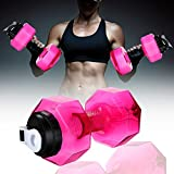 Hi-crazystore Portable Dumbbell Shape Bottle Drinking Water Bottles Water Kettle personalized bottle 2.2L (BPA Free) (Pink)