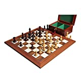 The Dubrovnik Chess Set, Box, & Board Combination - Purpleheart Gilded - by The House of Staunton