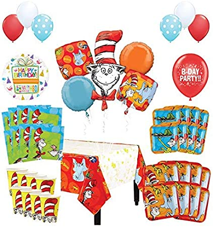 Dr Seuss Birthday Mylar Bouquet Balloons Party Decoration Set of 5