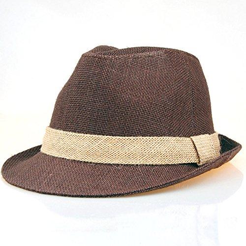 Hemp Fedora Hat Big Size 7 3/4 Fedora with Hat Band JRJ027 KOREA MADE