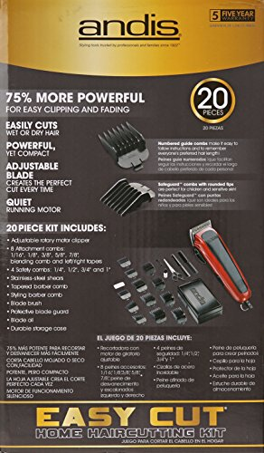Andis Easy Cut 20-Piece Haircutting Kit, Red/Black (75360) by Andis (Image #5)