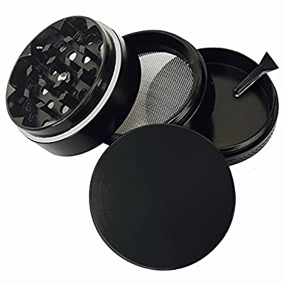 Goliath Industry Large Spice, Herb, Tobacco Leaves, Weed Grinder - 4 Piece with Pollen Catcher - 3.25 Inches from Goliath Industry