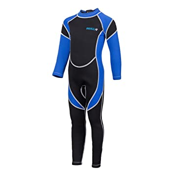 06f311dd09 SailBee 2MM Neoprene One Piece Full Wetsuits for Kids Boys Girls Back  Zipper Swimsuit UV Protection