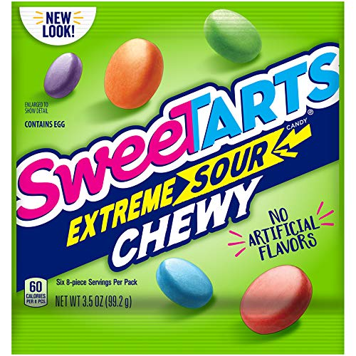 SweeTARTS Extreme Chewy Sours Peg Bag, 3.5 Ounce (Pack of 12) -