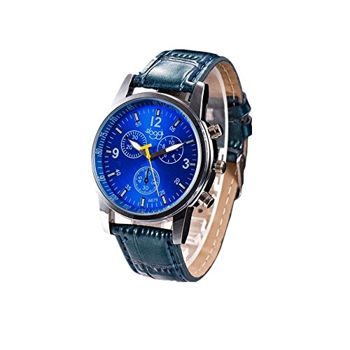 Mens Analog Watch Wrist Watches,Fimkaul Luxury Fashion Crocodile Faux Leather Watches ()