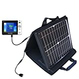 Dream'eo Enza 20G Portable Media Player compatible SunVolt Portable High Power Solar Charger by Gomadic - Outlet- speed charge for multiple gadgets