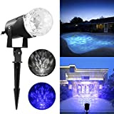 Elepawl Magical Spotlight Rotating Led Projector Light with Flame Lightings - Lightshow Projection Kaleidoscope LED for Indoor Outdoor Halloween Christmas Festival Decorations for Home Garden Landscape