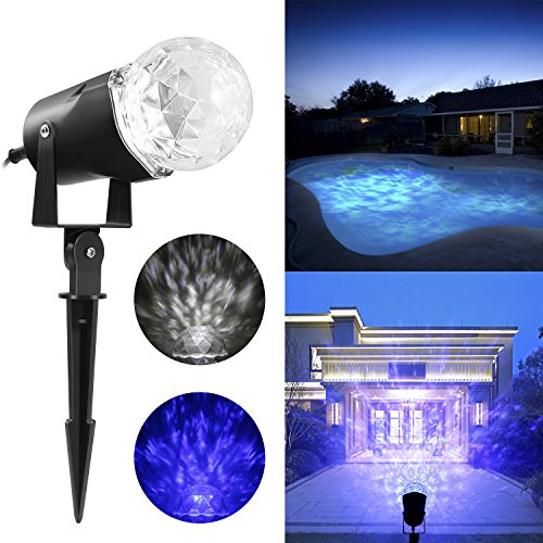 Elepawl Christmas Led Spotlight,Outdoor Kaleidoscope Halloween Spot Light Show Projection with Flame lightings Waterproof for Home Garden Decoration (Outdoor Halloween Lighting)