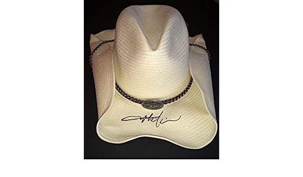 eef0b61ad45e2 PSA DNA Honkytonk Toby Keith Autographed Signed Official White Straw Cowboy  Hat at Amazon s Sports Collectibles Store