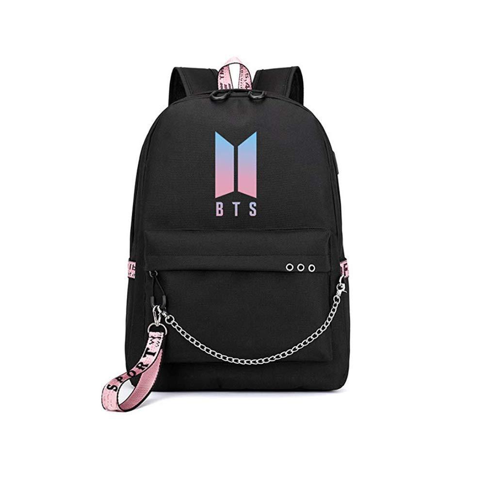 (Y3. BTS Backpack) - BTS Bangtan Boys Backpack Kpop Gift Merchandise Daypack Laptop Bag College School Bookbag Light Jungkook Jimin suga v bighit Stick with USB Charging Port   B07JHNJ6CF