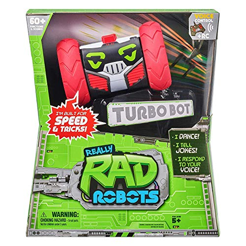 5156t2H3epL - Really RAD Robots - Electronic Remote Control Robot with Voice Command - Built for Speed and Tricks - Turbo Bot
