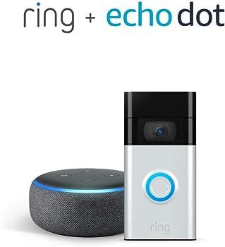 Ring 2nd Gen 1080p WiFi Video Doorbell (2020) + Amazon Echo Dot