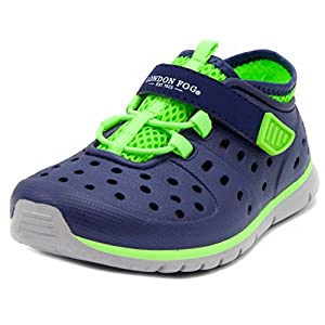 LONDON FOG Mud Puppies From Pool to Play Sneaker Sandal Water Shoes navy/lime 6