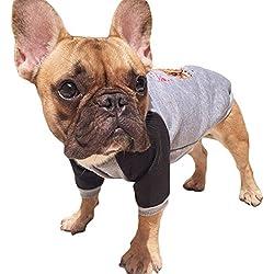 Scheppend Pet Puppy Basic Fleece Sweatshirt Dogs Sports Jersey Cats Cold Weather Coats Doggie Winter Jackets, Grey XXL