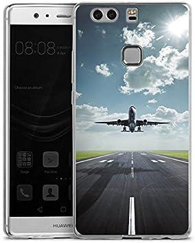Huawei P10 Plus Slim Case Carcasa de silicona Avión Take Off ...