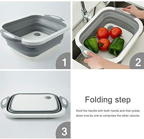 Romote Zusammenklappbar Seiher Großer Obstwaschkorb Gemüse Sieb mit Griff Folding Küche Seiher Küchenhelfer