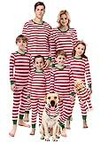 Matching Family Pajamas Christmas Red Striped Pjs