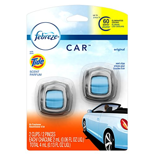 Febreze Car Vent Clip with Tide Original Scent Air Freshener, 2 ct