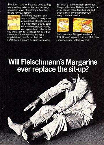 1968 Fleischmann's Margarine: Replace the Sit Up, Fleischmann's Print - Margarine Fleischmanns