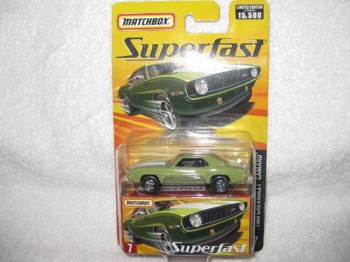 Matchbox 2006 Superfast 1969 Chevrolet Chevy Camaro Green #7