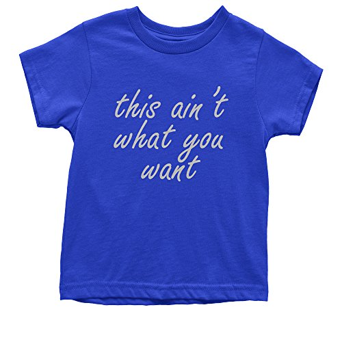 Youth King's Dead That Aint What You Want T-Shirt X-Small Royal - 3119 Rb