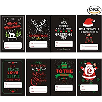 Amazon jumbo christmas self adhesive wrap tags stickerswith jumbo christmas self adhesive wrap tags stickerswith black series designs xmas gift labels solutioingenieria Images