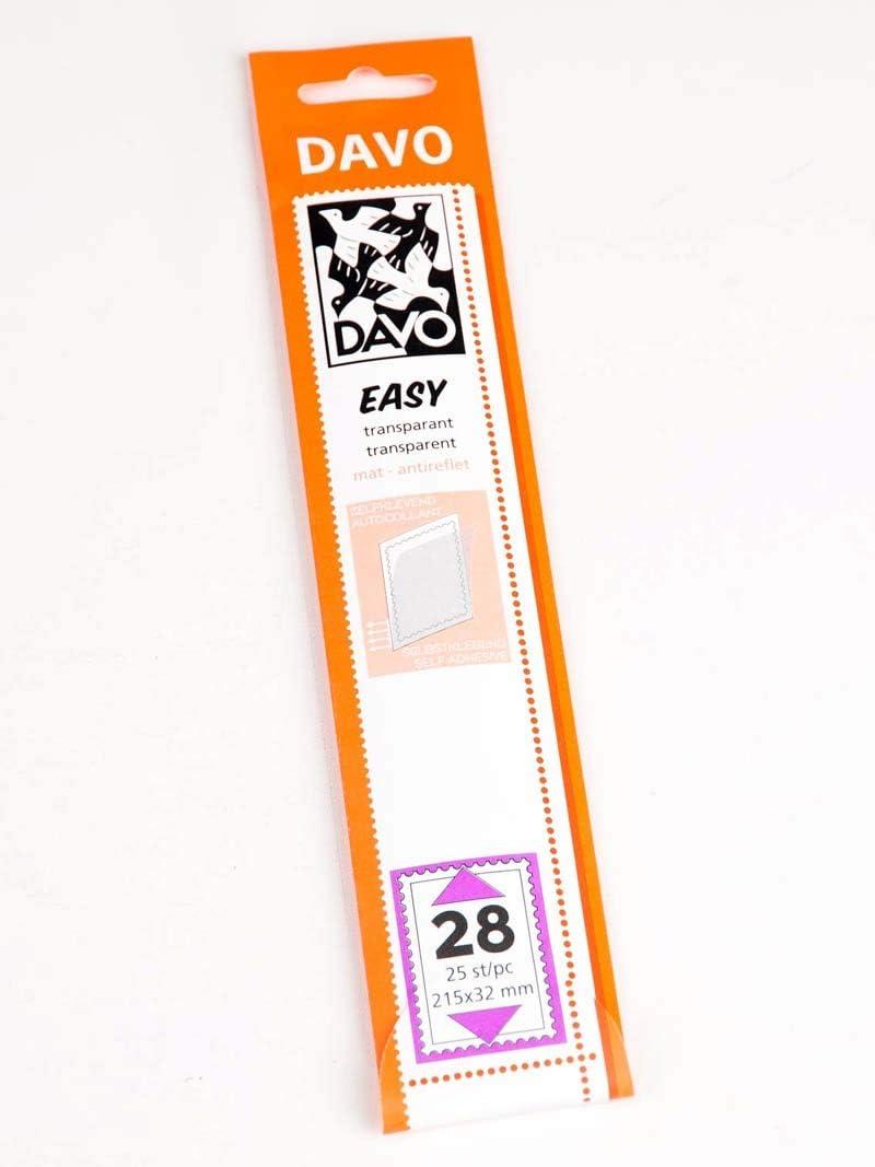 215 x 32 25 pcs. Davo 42028 Easy mounts transparent T28