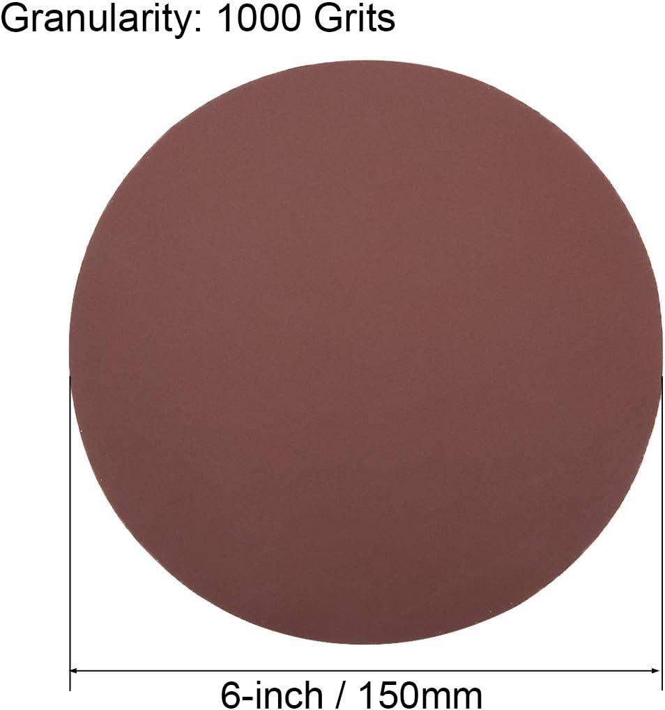 fogli abrasivi con supporto adesivo in ossido di alluminio per levigatrice orbitale Dischi abrasivi PSA assortiti Sourcingmap grana 80//100//120//180//240//400