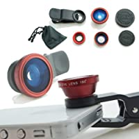 Camkix® Universal 3 in 1 Camera Lens Kit for Smart phones (iphone, Galaxy, HTC, Motorola), Ipad, Ipod touch, Laptops / One Fish Eye Lens / One 2 in 1 Macro Lens and Wide Angle Lens / One Universal Clip / One Microfiber Carrying Bag / with Camkix retail pa