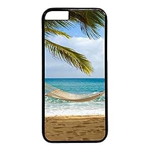 Custom Beautiful Beach Hard Back PC Black Case Skin Cover For iPhone 6 (4.7 inch)