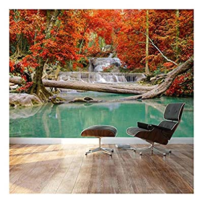 Made With Love, Dazzling Portrait, Stream and Waterfall in Exotic Location Landscape Wall Mural