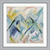Mile High by Carrie Schmitt Framed Art Print Wall Picture, Flat Silver Frame, 32 x 32 inches