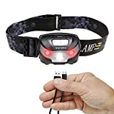 Vansky USB Rechargeable LED Headlamp Flashlight - Super Bright, Waterproof & Comfortable - Perfect Headlamps for Running, Walking, Camping, Reading, Hiking, Kids, DIY & More, USB Cable Included