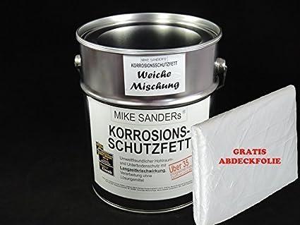 Mike Sanders Korrosionsschutzfett 4 Kg Weiche Mischung Plus Abdeckplane Gratis Auto