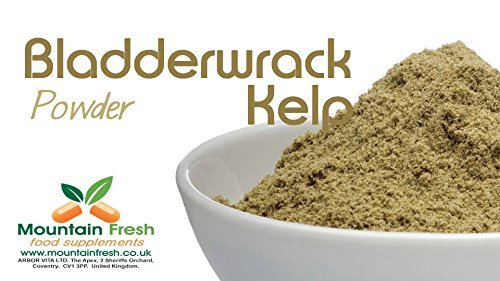 Organic Kelp / Bladderwrack Powder - Seaweed Superfood Supplement 50g FREE UK Delivery by Mountain Fresh