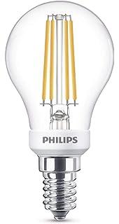 Philips Bombilla LED esférica E14, 5 W, luz blanca