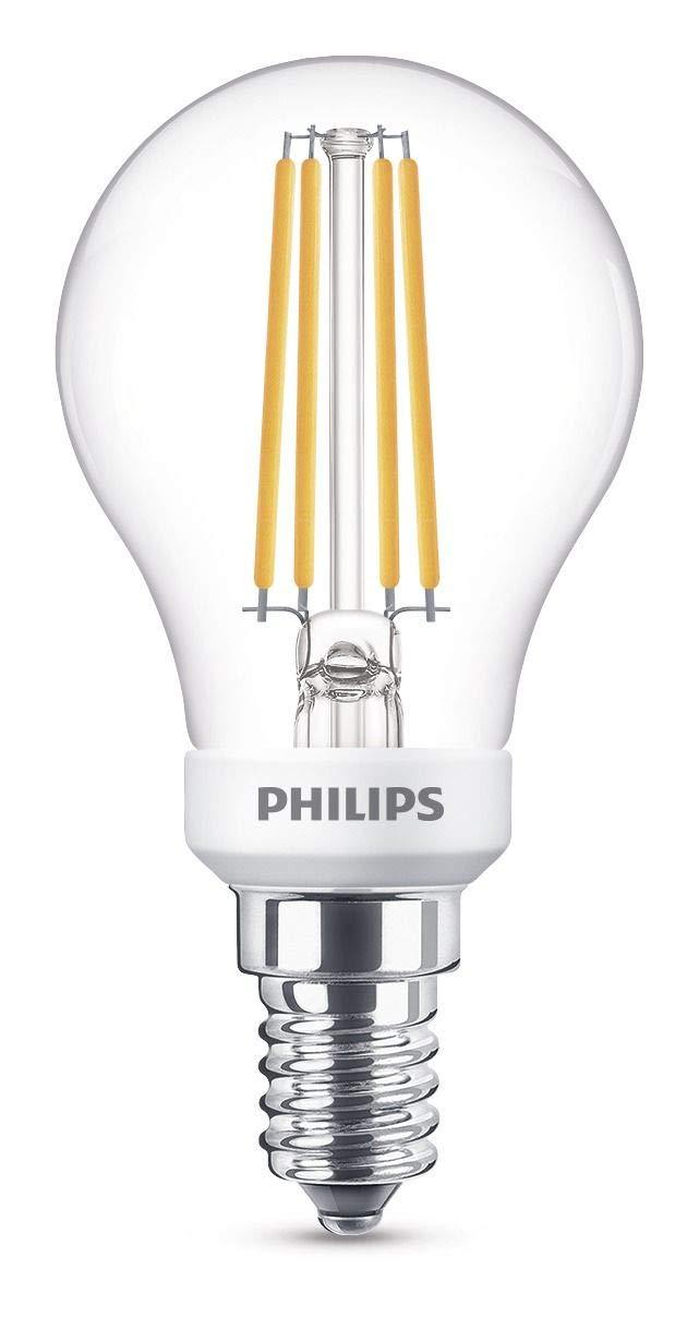 Philips Bombilla LED esférica E14, 5 W, luz blanca: Amazon.es: Iluminación